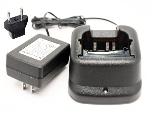 Icom IC-A24 Charger with EU Adapter - Replacement for Icom BP-210 Two-Way Radio Chargers