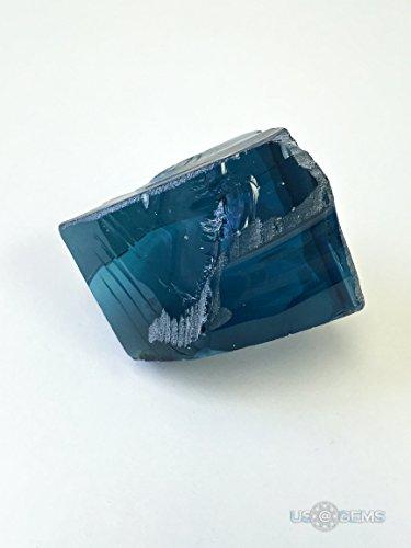 Aquamarine Aqua Blue #111. Rough for faceting 232 gr. Monosital, lab created. US@GEMS
