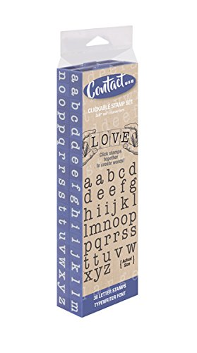 Contact USA CU-07144 Pegz Connectable Lowerase Alphabet Stamp Set Large 36Piece American Typewriter Pegz Connectable Lowerase Alphabet Stamp Set,Navy,Large (Stamp Typewriter Alphabet)