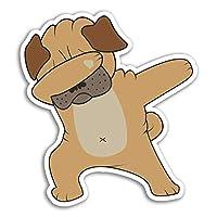 2 x 10cm Funny Dabbing Pug Dog Vinyl Stickers - Sticker Laptop Luggage #18069 (10cm Tall)