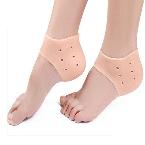 [AP Shop, 2Pcs Silicone Moisturizing Gel Heel Socks Like Cracked Foot Skin Care Protector Feet Massager Foot Pain Relief.(Skin] (3 Ninjas Kick Back Costume)