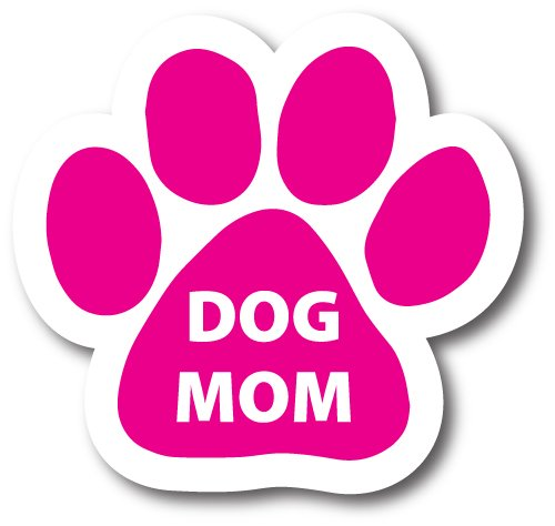 2x7 Paw Print Auto Truck Decal Magnet P-22 Magnet Me Up Dog Mom Pink Pawprint Car Magnet