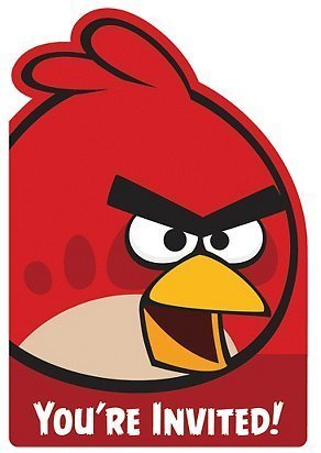 Amscan Fun Filled Angry Birds Birthday Party Red