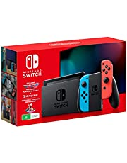 Nintendo Switch Console [Neon] with Mario Kart 8 Deluxe + Switch Online 3 Month Bundle
