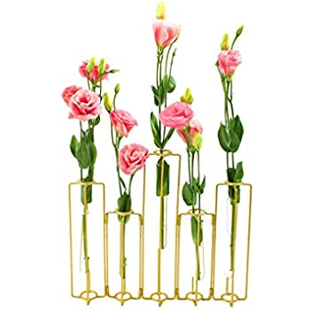 Amazon Com Black Metal Frame Tapered Glass Flower Vase Candle Holder Set Home Amp Kitchen