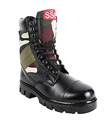 SSG Men's Combat Jungle Lace up Military,Tactical and Biker Boot