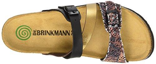 Dr. Brinkmann Damen 700916 Pantoletten Braun (kupfer/multi)
