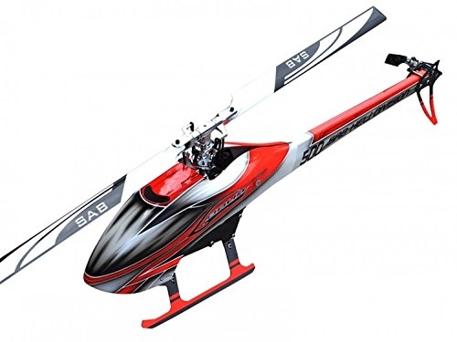 SAB Goblin 500 Flybarless Electric Helicopter Red/White Kit