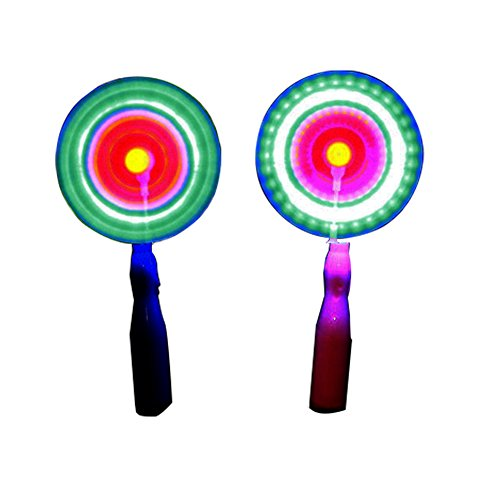 Sis Spinning Windmill Glows Toy Flashing LED Pinwheel Toy-2pcs