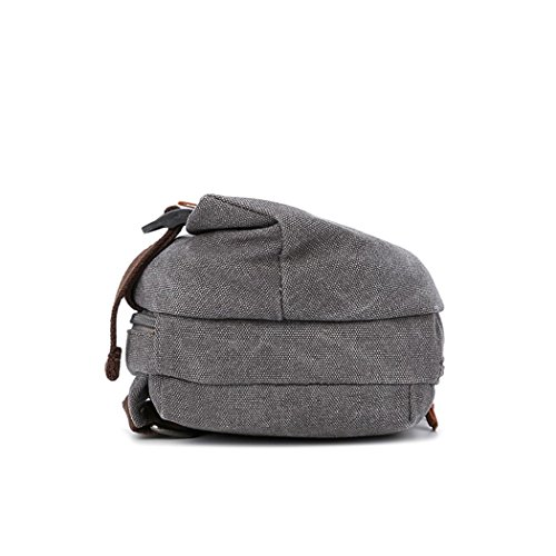 Lienzo pecho Pack sling Pack hombres moda ocio mensajero bolsa mochila deporte bandolera para senderismo camping gimnasio Ciclismo bicicleta mochila pequeña , brown Grey