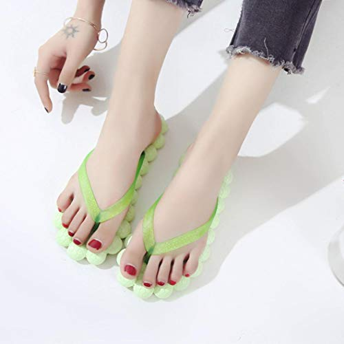 Flops Women Heel Mamum Flip Skidding Fashion Massage Green Fashionable Flat Skid Massage Slipper Anti Sandals Shoes Beach Anti 0wXvSFXq