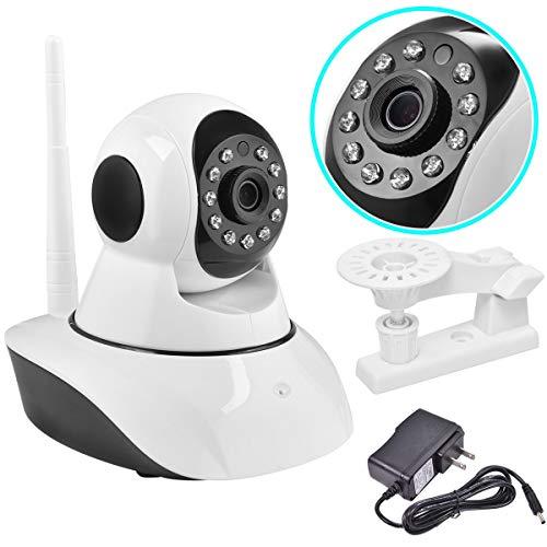 720P Wireless Wifi Webcam CCTV Security Camera Surveillance Night Vision White by Apontus