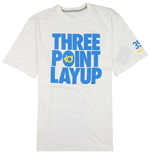 Nike Men's KD 3-Point Layup T-Shirt XX-Large White/Photo Blue/Tour Yellow/Ice Blue (Kobe Nike Hoodie)