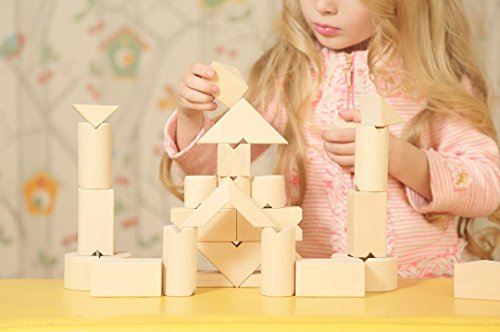 KUBI DUBI Wooden Building Blocks - Stem Toys for 3 Year Old +. Ponder for Boy, Girl Gift Ideas for 2018 Christmas? Fit to 4,5,6,7 Year Old Children.Invest in Your Child Inner World Today.