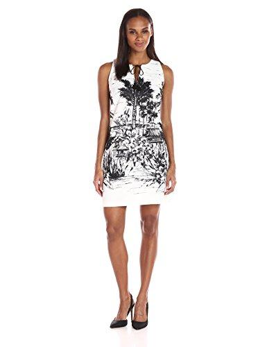 Julian Taylor Women's Sleeveless Beach Print Dress, Ivory...
