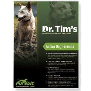 Dr. Tim's All Natural Pet Food Formula Pursuit for Active Dogs, (Dr Tims Dog Food)