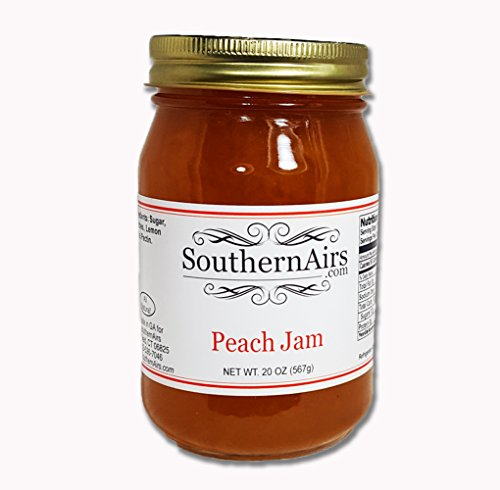 Peach Jam - SouthernAirs Peach Jam / All-natural Georgia peaches / 20-ounce