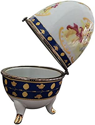 Porzellan Ei Schmuckdose Osterei Porzellanei Schmuckei antik Stil porcelain egg