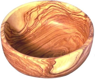La Tienda Large Olive Wood Salad Bowl from Spain (9.5 inch diameter; 3 1/4 inch deep) by La Tienda