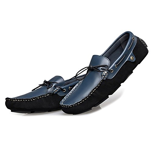 Mocassini Mocassini Da Da Footwear Scarpe Mano Uomo Da Barca Antiscivolo Casual Blue MERRYHE Scarpe Driving Slip In A Fatte Pelle On Moda 4wZSq6