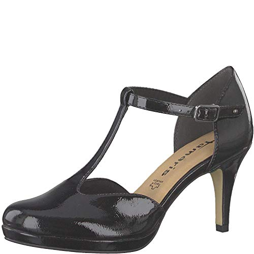 Femme À 24433 Sangle 1 it De 32 Tamaris 1 Chaussures Black Patent Talon Dame touch Escarpins SawUxqqn4