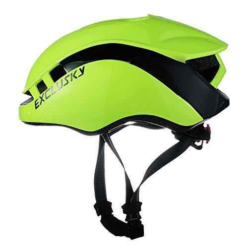 Exclusky Adult Road Bike Helmet 56/61cm (fluorescent yellow)