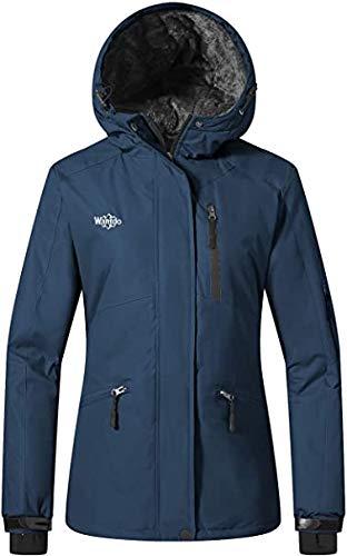 Wantdo Women's Mountain Ski Jacket Waterproof Rain Coat