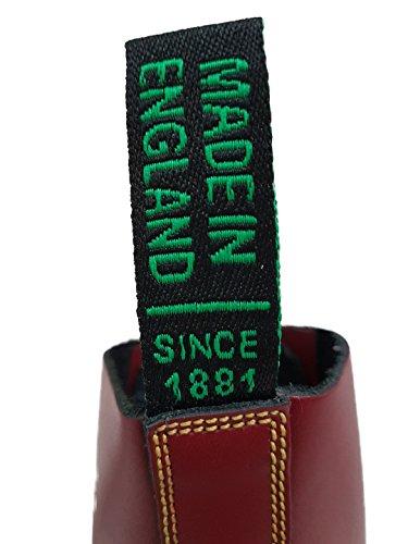 Solovair Nps Heren Gemaakt In Engeland 20 Eye Southerner Limited Ed. Kersen Rode Stalen Neuslaarzen