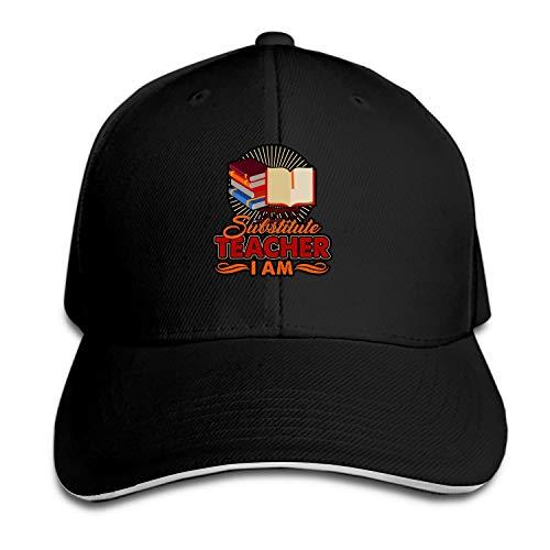 (I Am Substitute Teacher Baseball Cap Trucker Hats Adjustable Dad Hat Peaked Flat for Men Women)