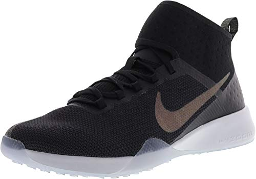 Nike Women's Air Zoom Strong 2 Metallic Black/Multicolor Ankle-High Mesh Training Shoes - 9.5M ()