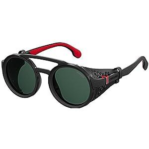 Carrera Unisex-Adult Carrera 5046/s Oval Sunglasses, BLACK, 49 mm