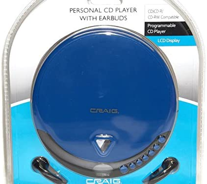 Blue Craig Programmable CD Player with Earbuds