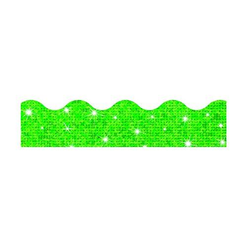 (TREND ENTERPRISES, INC. Terrific Trimmers Sparkle Border, 2 1/4 x 39 Panels, Green, 10 per Set)