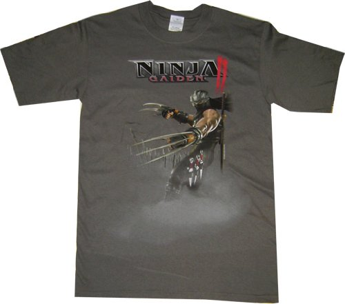 Ninja Gaiden II: Ryu Claws Attack Stance Grey T Shirt