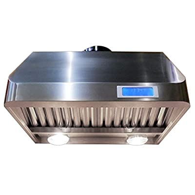 "CAVALIERE 30"" Under Cabinet / Wall Mounted Stainless Steel Kitchen Range Hood 1000 CFM AP238-PS35-30"