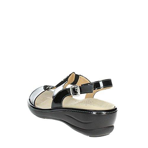Sandale Noir Soft V Femme 003 IO420P Cinzia qAwTIZF