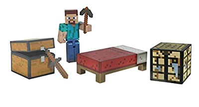 Minecraft Core Player Survival Pack Action Figure New Free Shipping