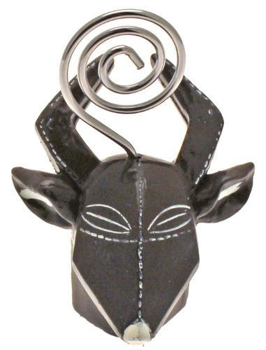 Marque-place Masque africain Gazelle
