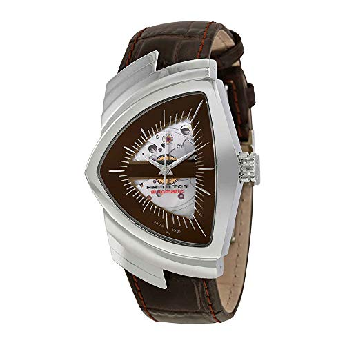 Hamilton Ventura Brown Skeleton Dial SS Leather Automatic Men's Watch H24515591