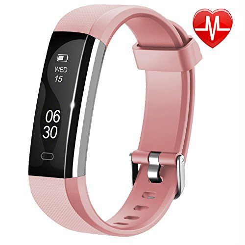 Lintelek Fitness Tracker, Slim Activity Tracker with Heart Rate Monitor, IP67 Waterproof Wristband with Step Counter, Calorie Counter, Bluetooth Pedometer for Android & iOS Smartphone for Kids ()