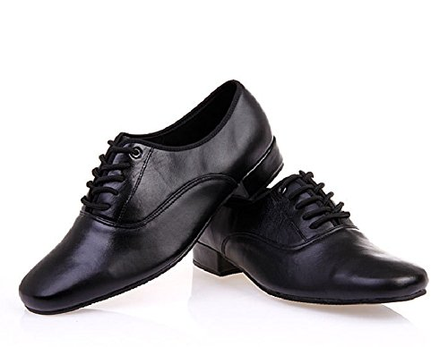 Image of BeiBestCoat Men's Classic Lace-up Leather Dance Shoes Modern Dancing Shoes, Black (6.5 D (M) US/38)