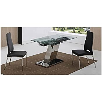 Superieur DT1235 Modern Sleek Extendable Dining Table
