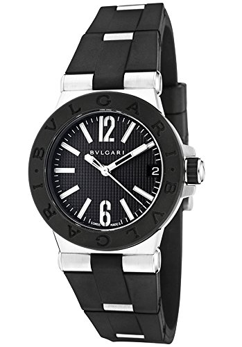 Bulgari-Dg29bsvd-Womens-Diagono-Black-Rubber-And-Ss-Black-Textured-Dial-Watch