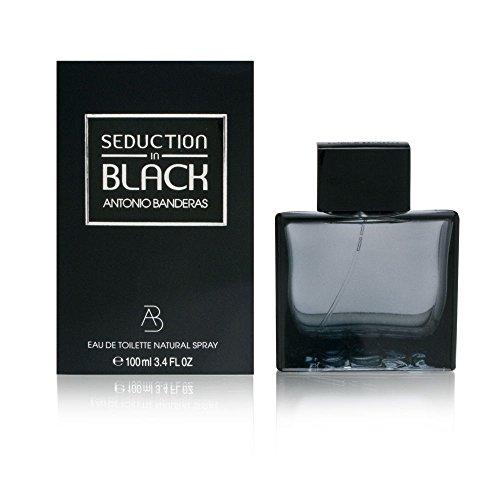 Antoino Banderas Seduction In Black for Men Eau-de-Toilette Spray, 3.4-Ounce