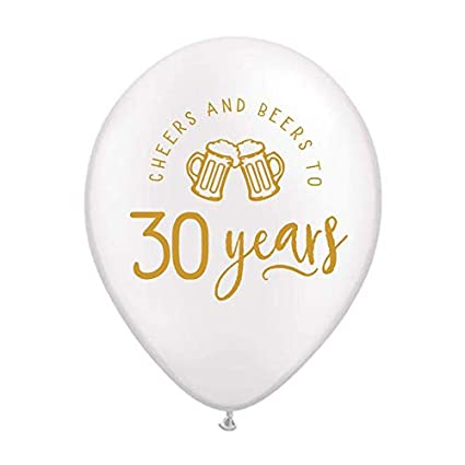 Cheers And Beers To 30 Years Balloons With Beer Mugs 30th Birthday Party