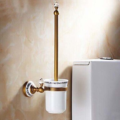 XY&XH Toilet Brush Holder , Antique Brass Toilet Brush Holder