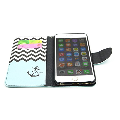 "iPhone 6Plus(5.5"") Case, Yaobai flip en cuir PU Wallet Card *** Magnetic PU cuir Wallet *** stand Case titulaire de la carte Shell cute adorable [animal] flip PU Housse en cuir Housse Wallet Card avec"