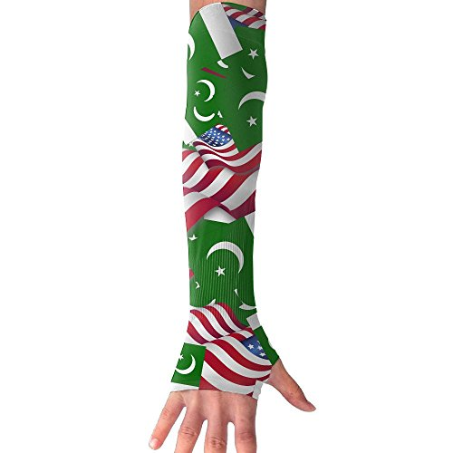 Pakistan Flag With America Flag Sleeves Long Sleeve Sun Protection Arm Sleeves Arm Cooling Sleeve Cycling Outdoor Sports - Fashion New Pakistan