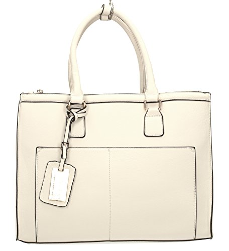 Naples Womens Cosmo Work Bag Business City Shoulder Bag - SWANKYSWANS White