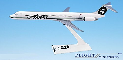 200 Alaska Airlines (Alaska (91-Cur) MD-80 Airplane Miniature Model Plastic Snap-Fit 1:200 Part# AMD-08000H-016)